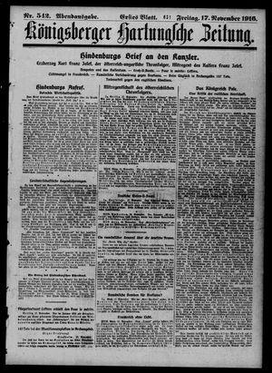 Königsberger Hartungsche Zeitung on Nov 17, 1916