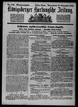 Königsberger Hartungsche Zeitung vom 18.11.1916