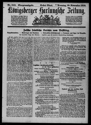 Königsberger Hartungsche Zeitung vom 19.11.1916