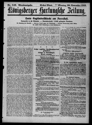 Königsberger Hartungsche Zeitung on Nov 20, 1916