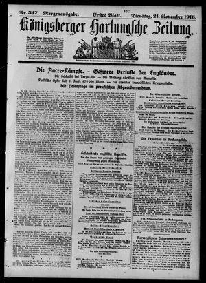 Königsberger Hartungsche Zeitung vom 21.11.1916