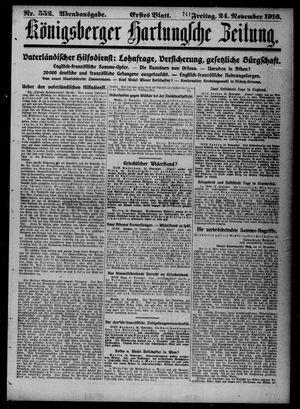 Königsberger Hartungsche Zeitung vom 24.11.1916