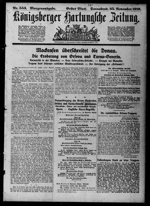 Königsberger Hartungsche Zeitung vom 25.11.1916