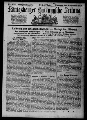 Königsberger Hartungsche Zeitung vom 26.11.1916