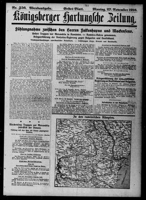 Königsberger Hartungsche Zeitung vom 27.11.1916