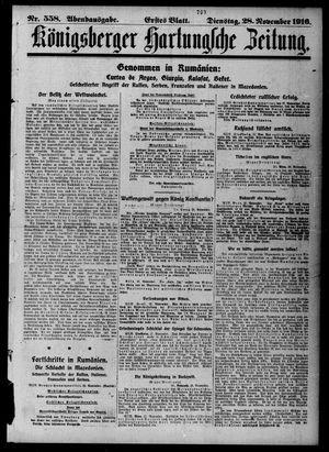 Königsberger Hartungsche Zeitung vom 28.11.1916