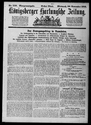 Königsberger Hartungsche Zeitung vom 29.11.1916