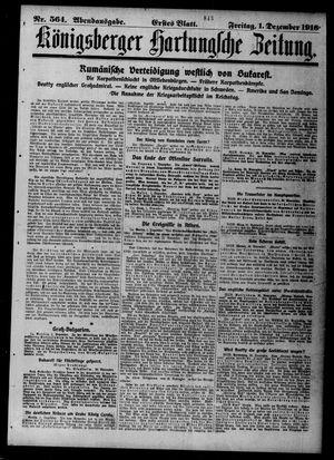 Königsberger Hartungsche Zeitung vom 01.12.1916