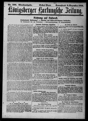 Königsberger Hartungsche Zeitung vom 02.12.1916