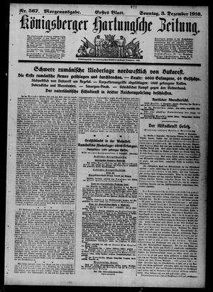 Königsberger Hartungsche Zeitung vom 03.12.1916