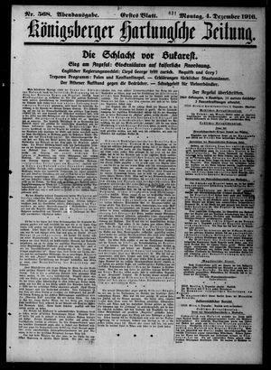 Königsberger Hartungsche Zeitung vom 04.12.1916