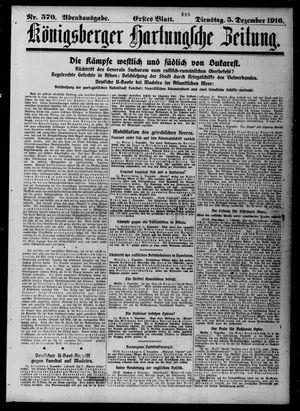 Königsberger Hartungsche Zeitung vom 05.12.1916