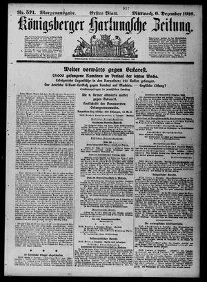 Königsberger Hartungsche Zeitung vom 06.12.1916