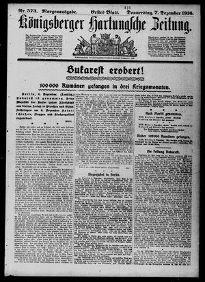 Königsberger Hartungsche Zeitung vom 07.12.1916