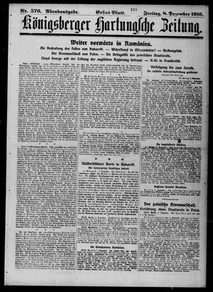Königsberger Hartungsche Zeitung vom 08.12.1916