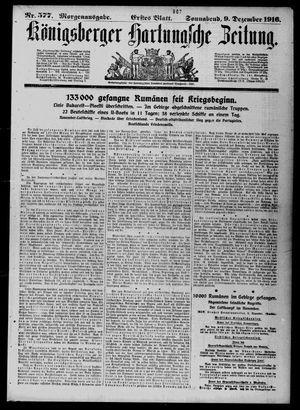 Königsberger Hartungsche Zeitung vom 09.12.1916