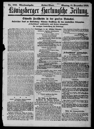 Königsberger Hartungsche Zeitung vom 11.12.1916