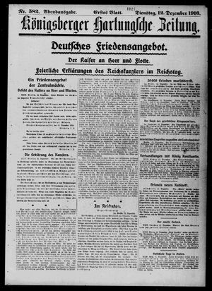 Königsberger Hartungsche Zeitung vom 12.12.1916