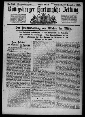 Königsberger Hartungsche Zeitung vom 13.12.1916