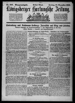 Königsberger Hartungsche Zeitung vom 15.12.1916