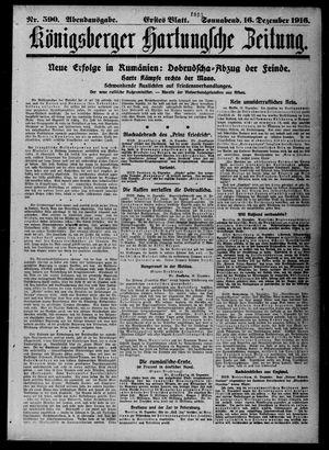 Königsberger Hartungsche Zeitung vom 16.12.1916