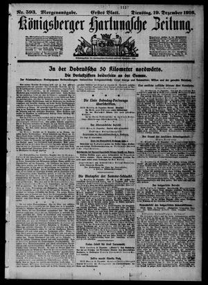 Königsberger Hartungsche Zeitung on Dec 19, 1916