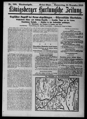Königsberger Hartungsche Zeitung on Dec 21, 1916