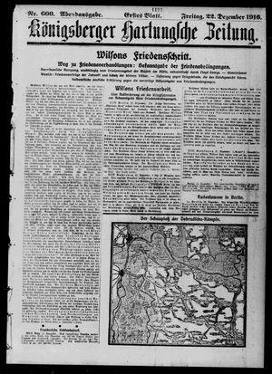 Königsberger Hartungsche Zeitung vom 22.12.1916