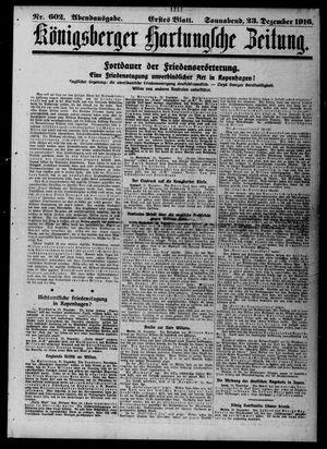 Königsberger Hartungsche Zeitung vom 23.12.1916