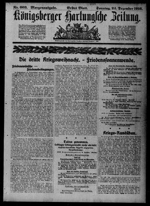 Königsberger Hartungsche Zeitung vom 24.12.1916
