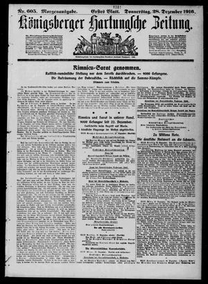 Königsberger Hartungsche Zeitung vom 28.12.1916