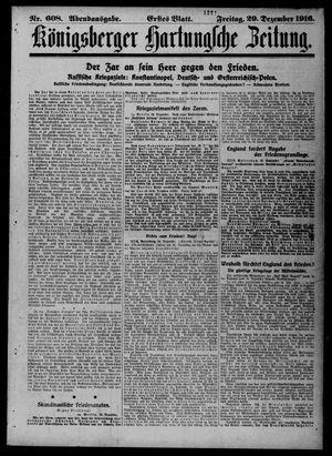 Königsberger Hartungsche Zeitung vom 29.12.1916