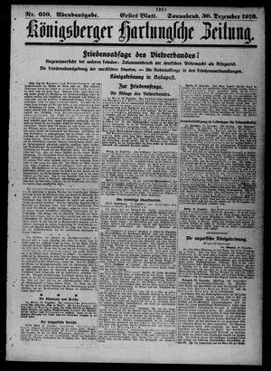 Königsberger Hartungsche Zeitung vom 30.12.1916