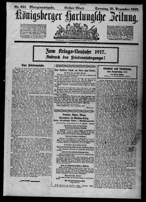 Königsberger Hartungsche Zeitung vom 31.12.1916