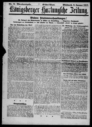 Königsberger Hartungsche Zeitung on Jan 3, 1917