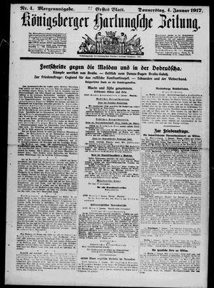 Königsberger Hartungsche Zeitung vom 04.01.1917
