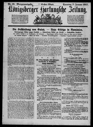 Königsberger Hartungsche Zeitung vom 07.01.1917