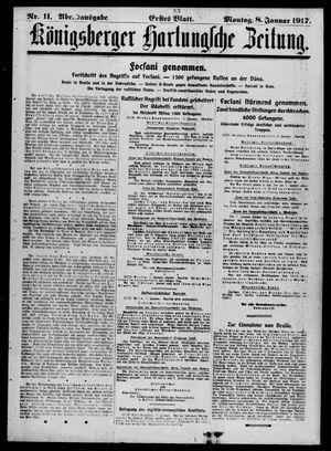 Königsberger Hartungsche Zeitung vom 08.01.1917