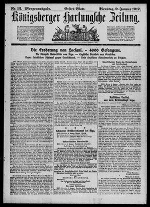 Königsberger Hartungsche Zeitung vom 09.01.1917