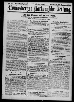 Königsberger Hartungsche Zeitung vom 10.01.1917