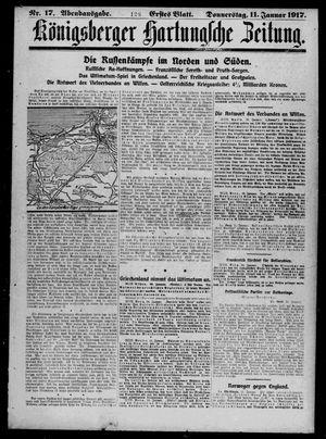 Königsberger Hartungsche Zeitung vom 11.01.1917