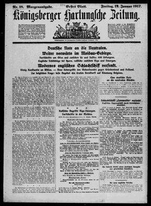 Königsberger Hartungsche Zeitung vom 12.01.1917