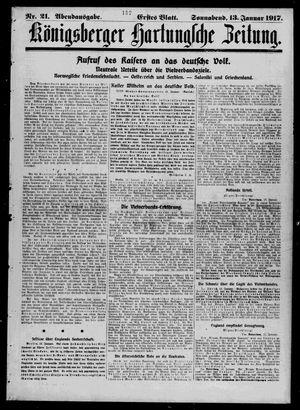 Königsberger Hartungsche Zeitung vom 13.01.1917