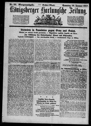 Königsberger Hartungsche Zeitung vom 14.01.1917