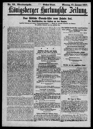 Königsberger Hartungsche Zeitung vom 15.01.1917
