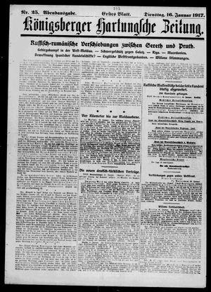 Königsberger Hartungsche Zeitung vom 16.01.1917