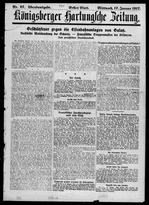 Königsberger Hartungsche Zeitung vom 17.01.1917