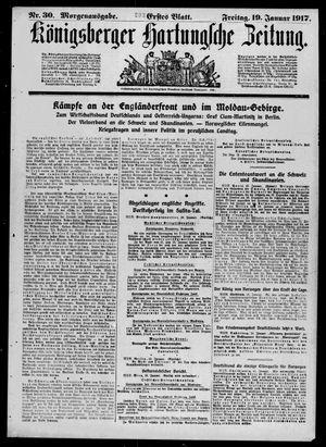 Königsberger Hartungsche Zeitung on Jan 19, 1917