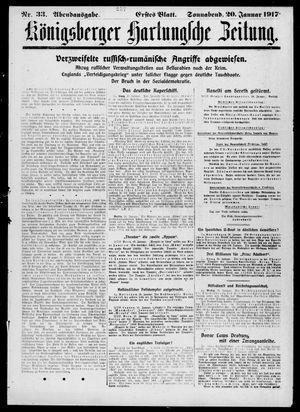 Königsberger Hartungsche Zeitung vom 20.01.1917