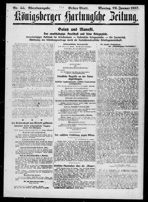 Königsberger Hartungsche Zeitung vom 22.01.1917